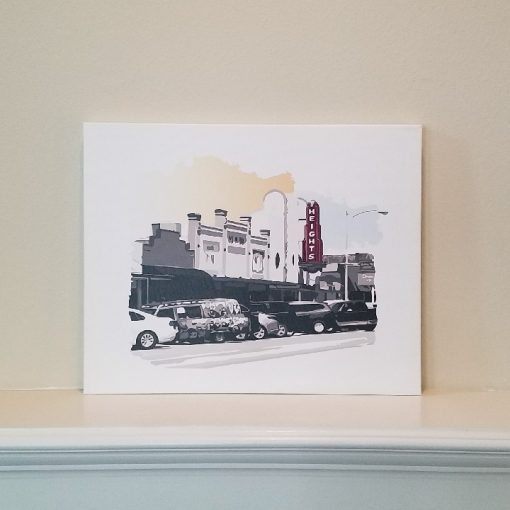 19th Street Heights - Original Digital Art Print