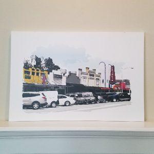 19th Street Shades of Color - Original Digital Art Print