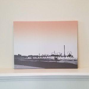 Pleasure Pier Sunset - Galveston- Original Digital Art Print