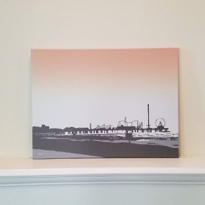 Pleasure Pier Sunset - Galveston- Original Digital Art Print