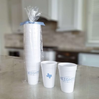 Houston Heights Tile - Texas 16 oz. Foam Cup Pack