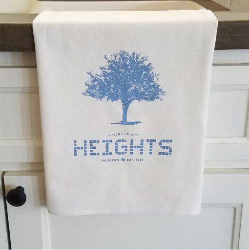 Houston Heights Tile - Tree Flour Sack Towel