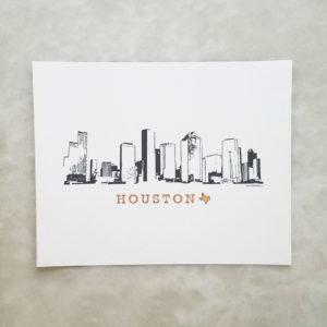 Houston Skyline print