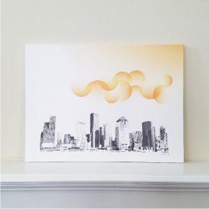 Houston Summer - Original Digital Art Print