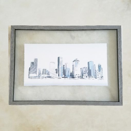 Houston Skyline - Blue - Original Digital Art Print