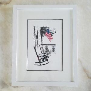 Neighborhood Porch - Original Digital Art Print