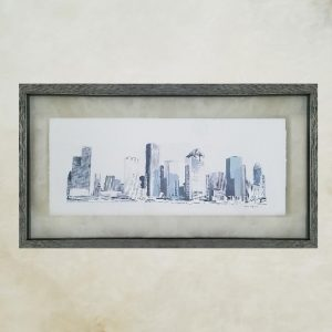 Houston Skyline - Original Digital Art Print