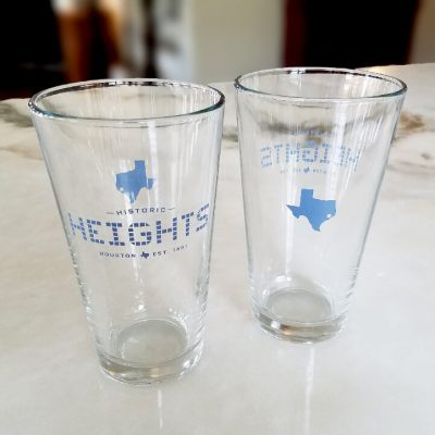 16 oz. Brew Pint Glass - Heights Tile - Texas