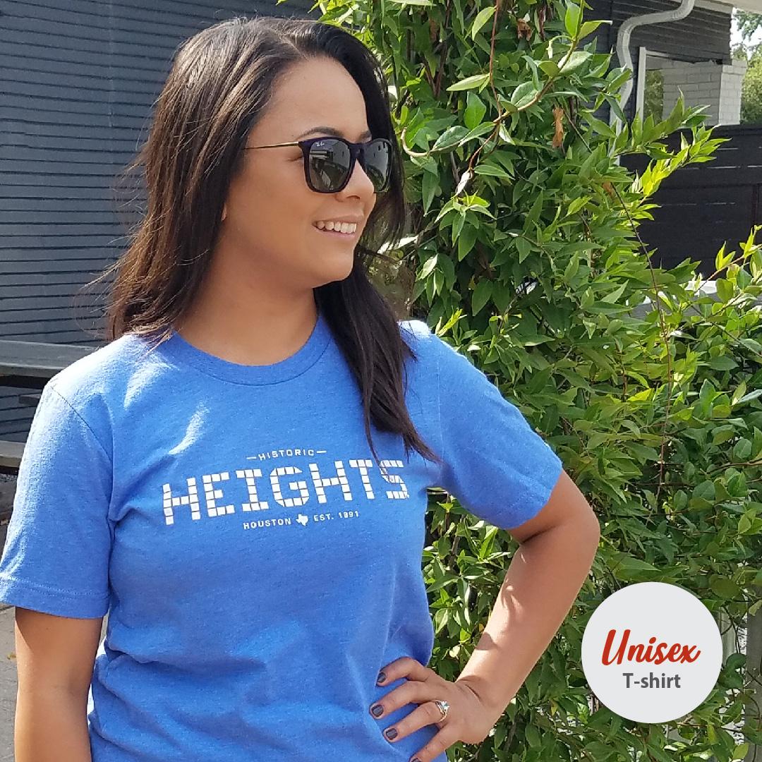 b2a47232b6b Houston Heights Tile, Unisex T-shirt, Heather Columbia Blue ...