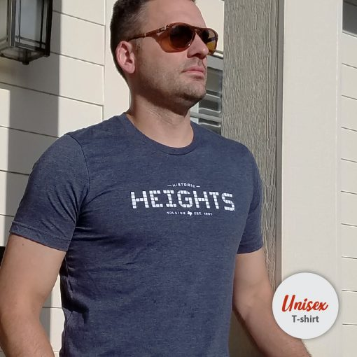 Heights Tile unisex t-shirt Heather Navy