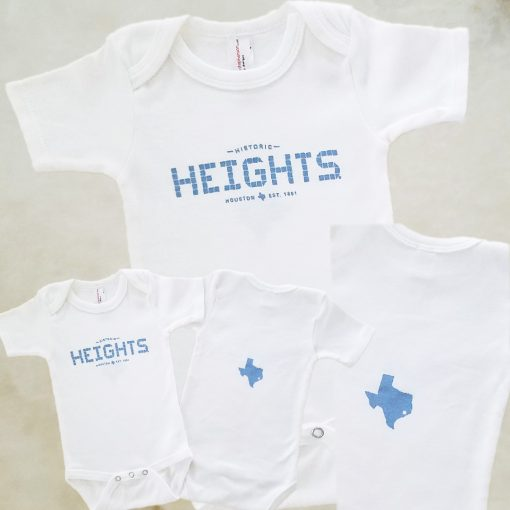 Heights Tile blue onesie