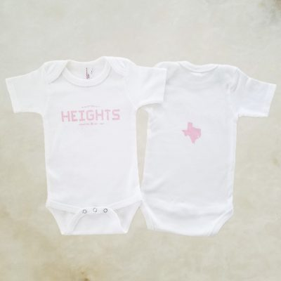 Heights Tile pink onesie