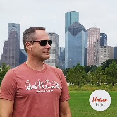 Houston Skyline Heather Clay t-shirt