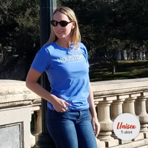 Houston Tile unisex t-shirt Columbia Blue