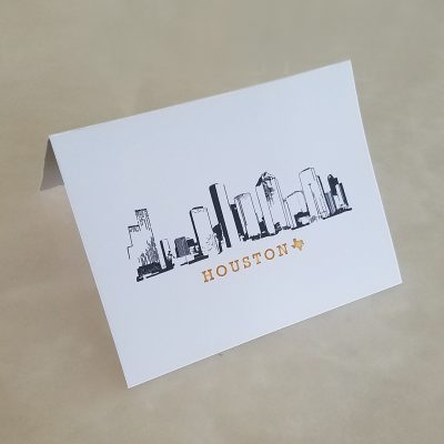 Note Card - Houston Skyline