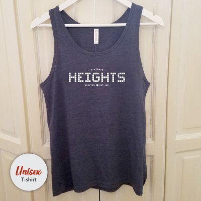 Heights Tile unisex tank Heather Navy