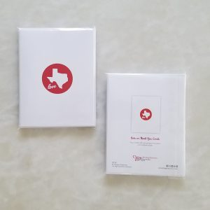Note Cards - Texas Love red pack