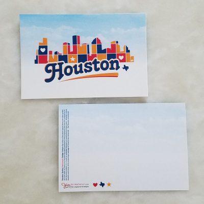 Postcard - Houston Skyline Patchwork