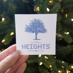 "Heights Tile & Tree 3"" sticker"