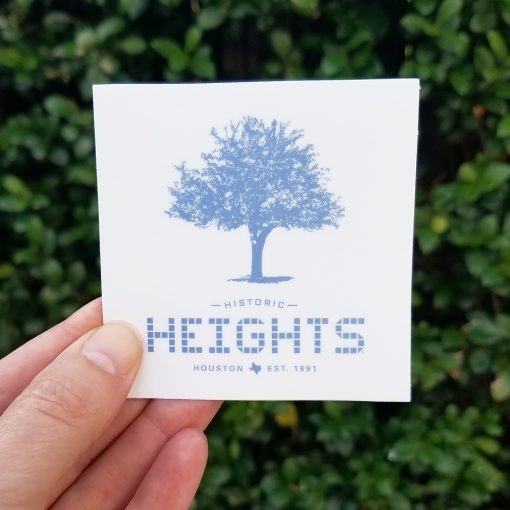 "Heights Tile & Tree 3"" sticker"