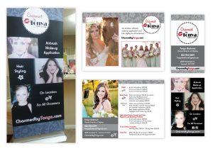 "Standing Banner | Brochure Card, 5"" x 7"" | Business Card"