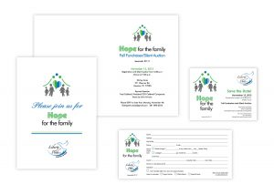 "Event Art & Branding   Folded Invitation, 5"" x 7""   Flat Cards"