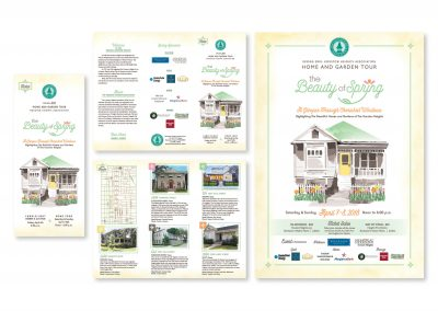 Event Art & Branding, Houston Heights Assoc. | Tri-fold | Poster
