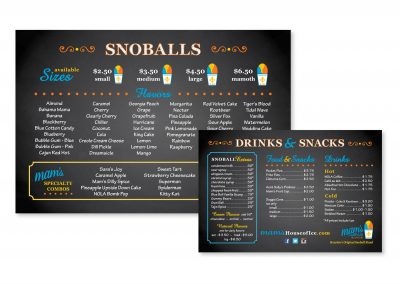 "Menu Boards, 24"" x 36"""
