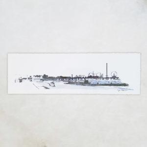 Pleasure Pier - Line Drawing - Original Digital Art Print