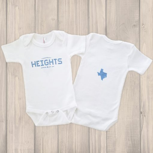Houston Heights Tile onesie blue