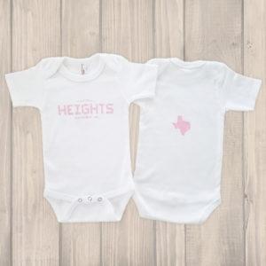 Houston Heights Tile onesie pink