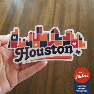 Sticker - Houston Skyline Patchwork