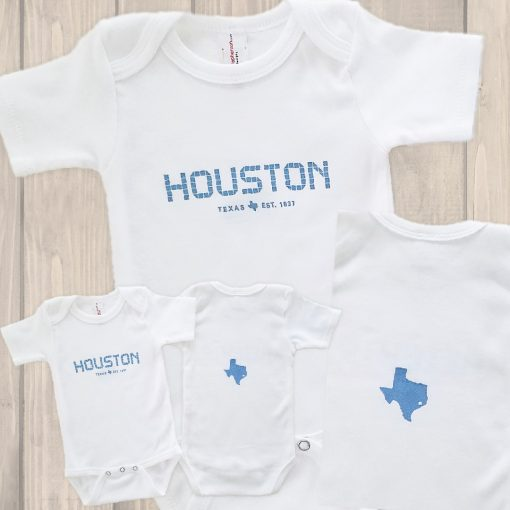 Houston Tile onesie blue