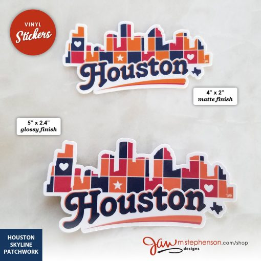 Houston Skyline Patchwork sticker