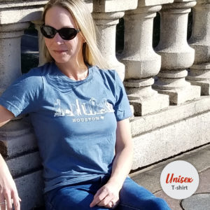 Houston Skyline unisex t-shirt heather slate