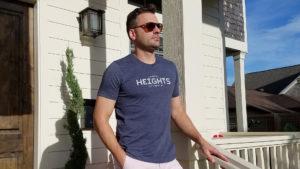 Heights Tile Heather Navy tshirt
