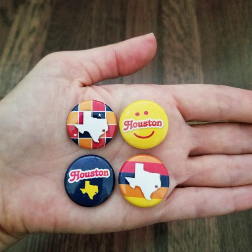 Button Pins - Houston, Texas