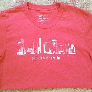 Houston Skyline Heather Red