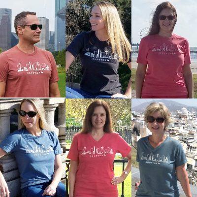 Houston Skylilne Unisex T-shirts