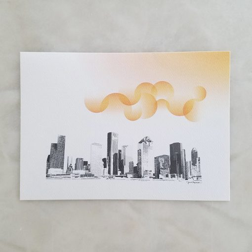 "Houston Summer 5"" x 7"""
