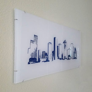 Houston Skyline - Acrylic, navy