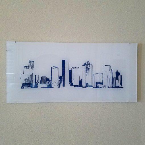 Houston Skyline - Acrylic, navy
