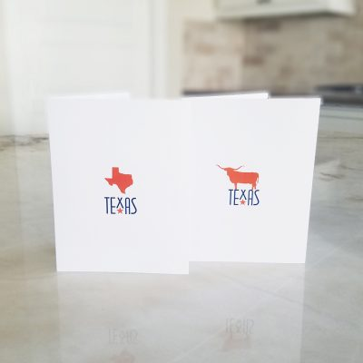 Texas, Longhorn Orange Note Card