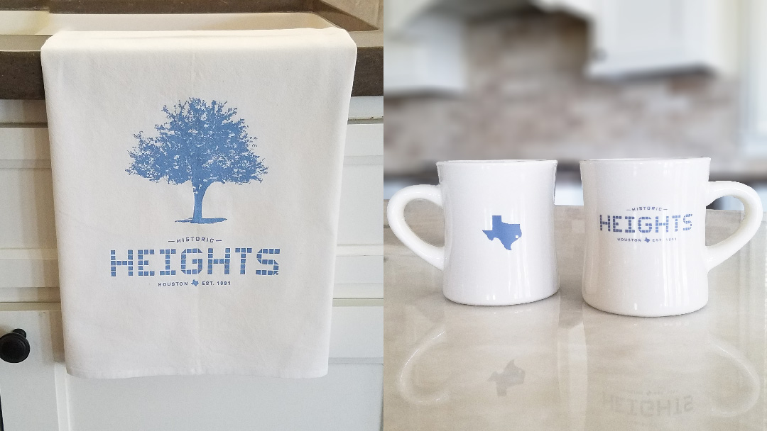 Houston Heights Towel & Mug